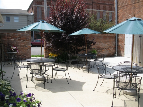 Newly renovated outside courtyard area